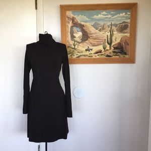 Black COLUMBIA Jersey Knit Stretch Fall Dress M